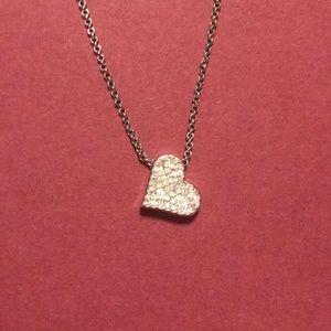 NWOT Lia Sophia Heart Rhinestone Pendant Necklace